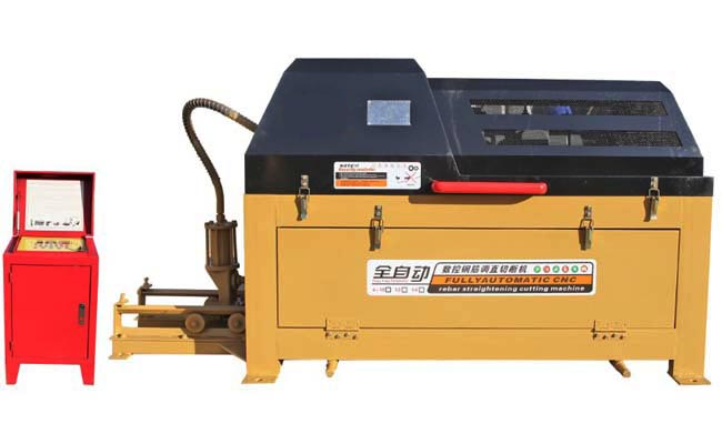 Automatic rebar straightening cutting machine