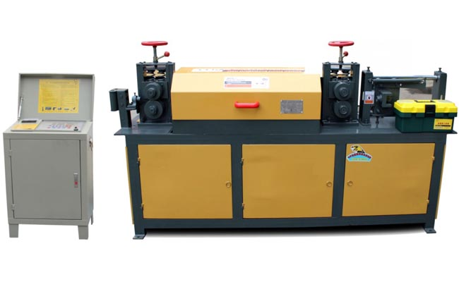 Steel bar decoiling and straightening machine