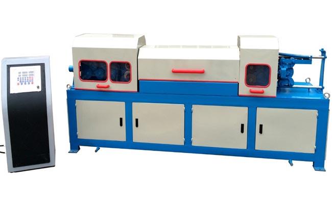 Automatic bar straightening cutting machine
