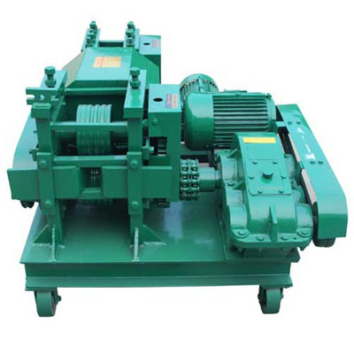 Scrap iron bar straightening machine